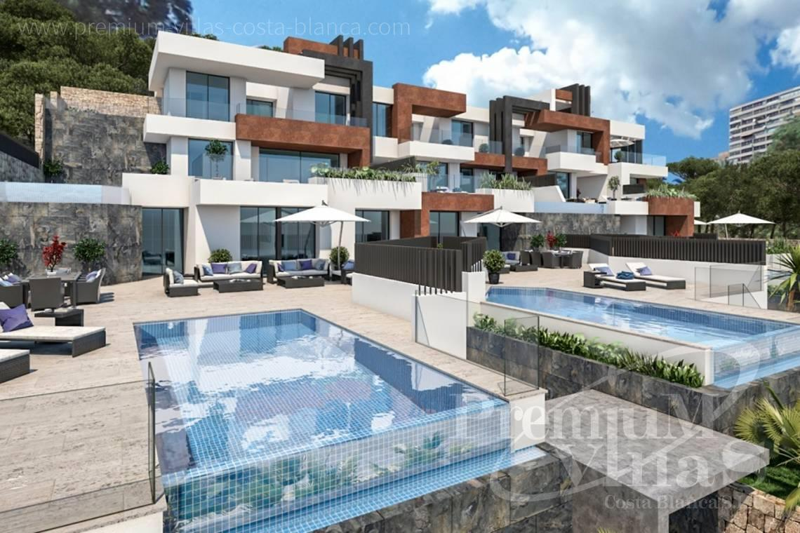 front line apartment with private swimming pool in Benidorm - A0599 - Luxury apartments and duplex in privileged area of Benidorm at the seafront. 2