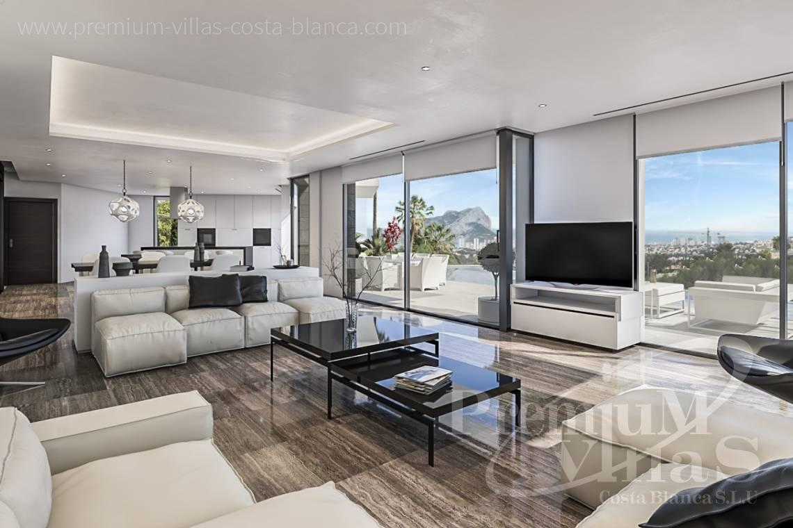 Buy modern villa with sea views in Benissa Costa Blanca - C2121 - New project in Benissa with beautiful views and first class qualities. 6