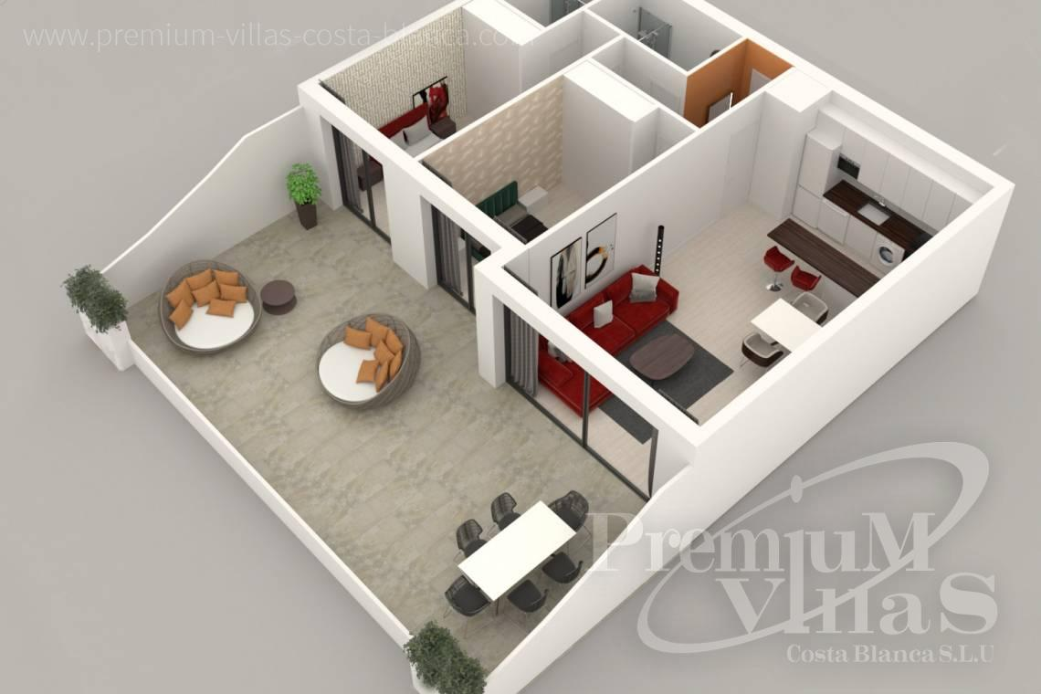 - A0622 - 2 bedrooms apartments with sea views in Finestrat 25