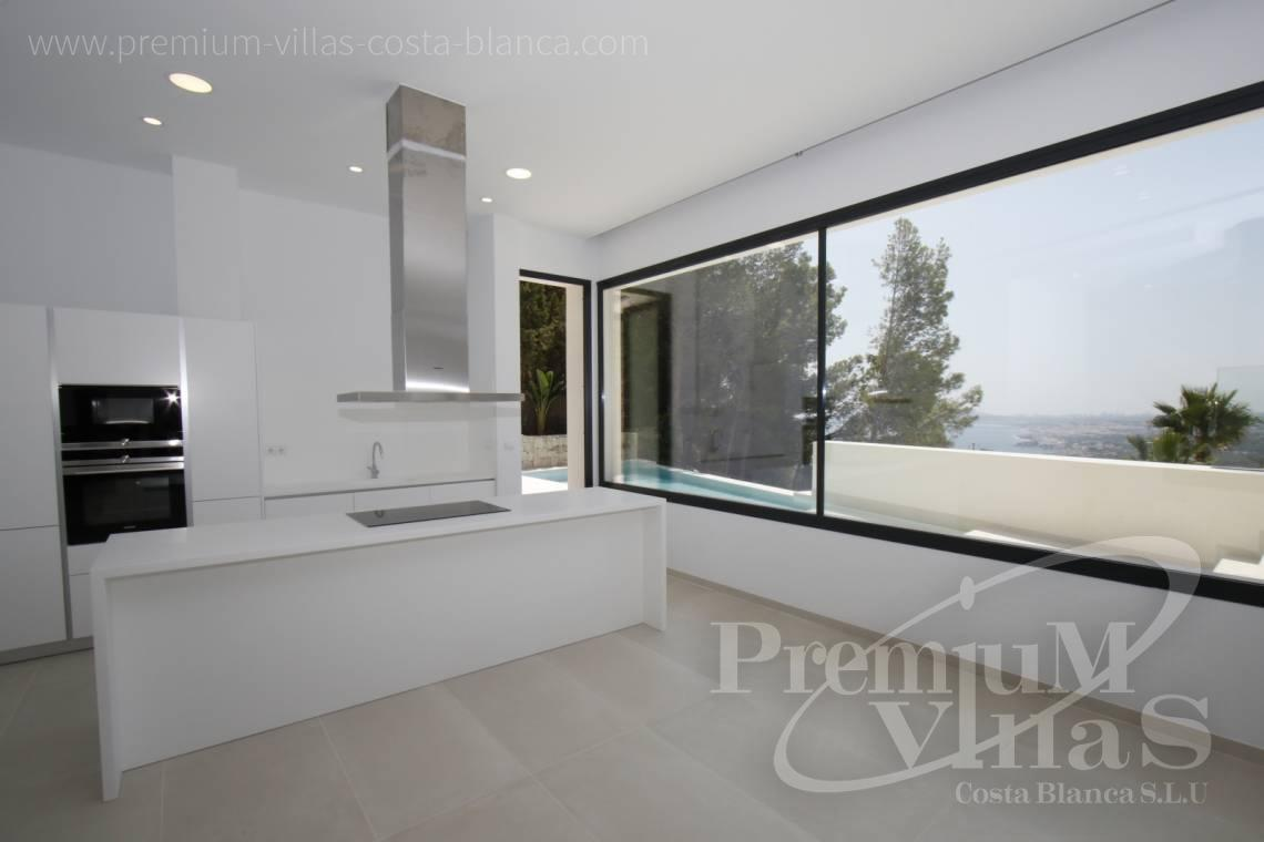 Kitchen in the modern villa with sea views in Altea Hills Costa Blanca - C2138 - New construction of a modern villa in Altea Hills with fantastic views 15