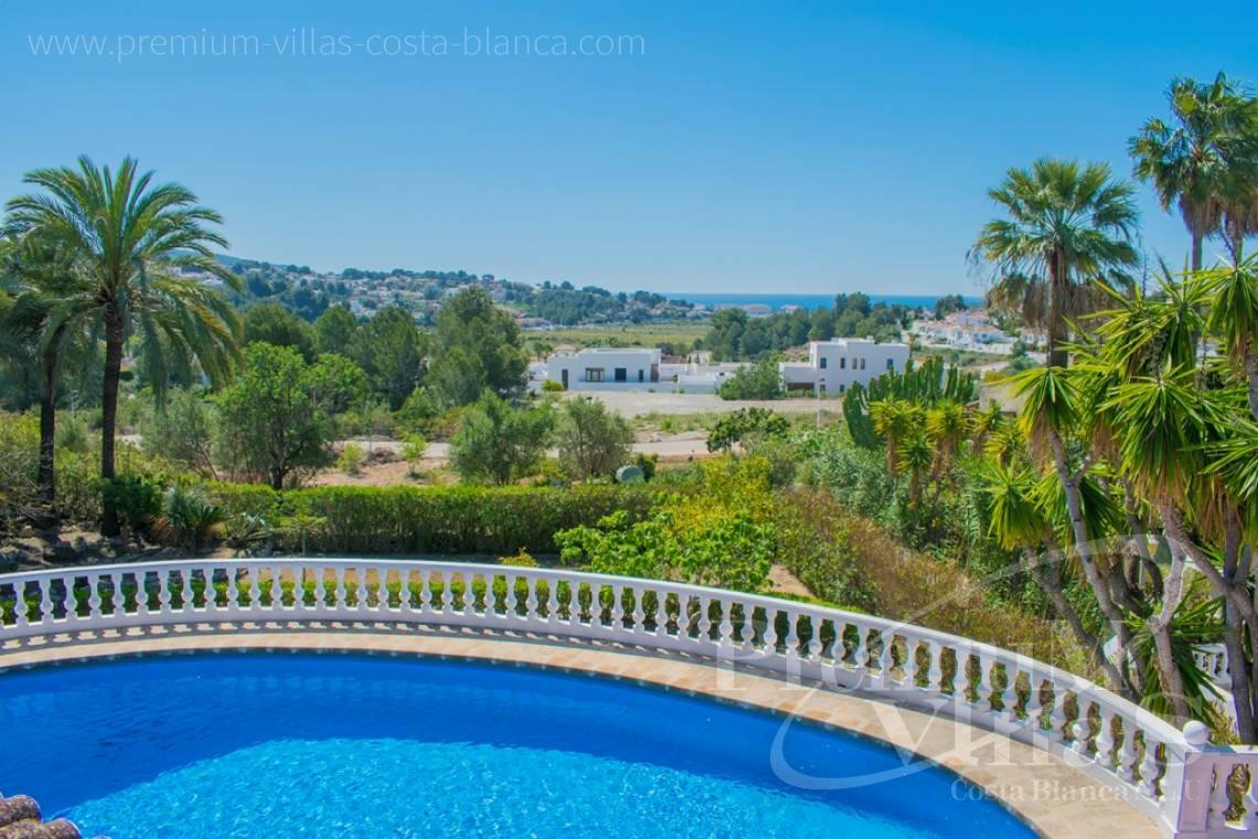 Buy house with sea views in Moraira Costa Blanca - CC2403 - One storey Mediterranean villa in Moraira 2