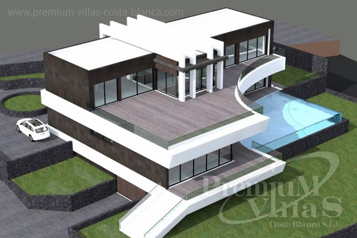 Buy villas houses sea view in Benissa Costa Blanca - C1698 - Modern design villa for sale with nice sea views in Benissa  6