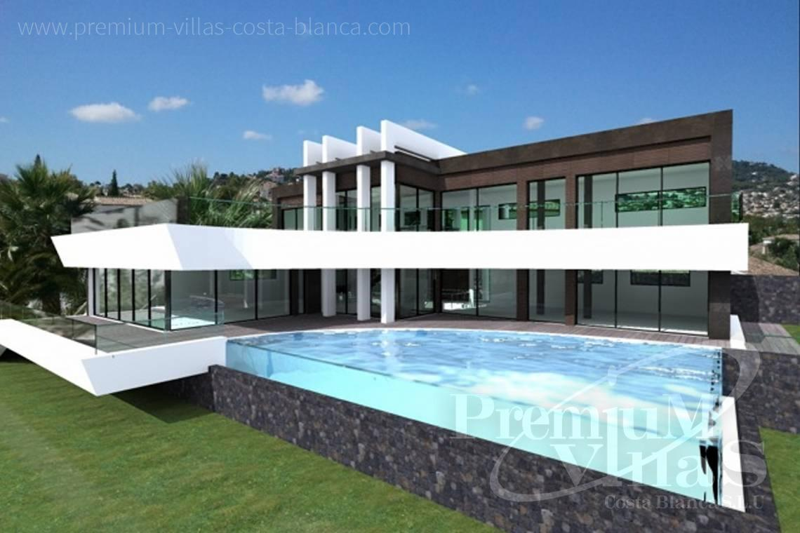 Buy house villa property mansion luxury Benissa Costa Blanca - C1698 - Modern design villa for sale with nice sea views in Benissa  2