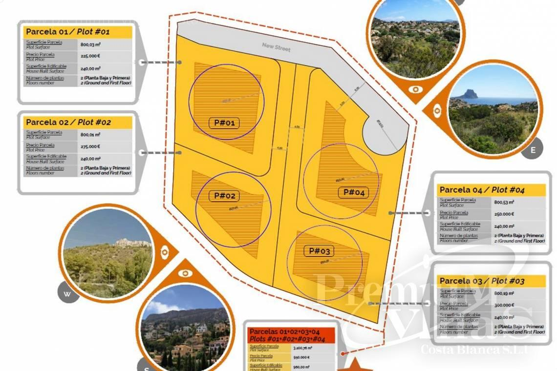 - 0219G - 4 building plots in package in Calpe, La Canuta for sale 2