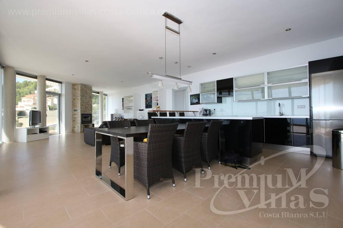 Kitchen in the modern 6 bedroom villa in Altea Spain - C1977 - Modern luxury villa for sale in Altea with magnificent sea views 11