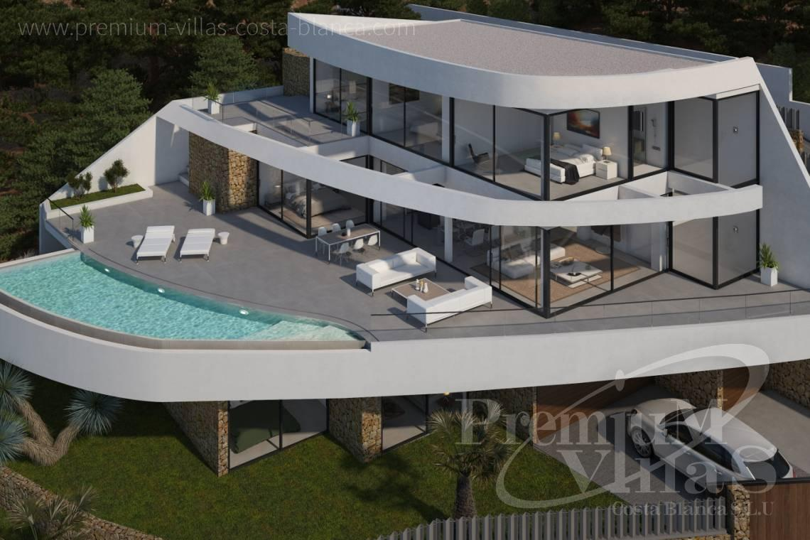 modern villas for sale Costa Blanca Spain - C1852 - Our company builds this modern and luxury villa with amazing sea views 5