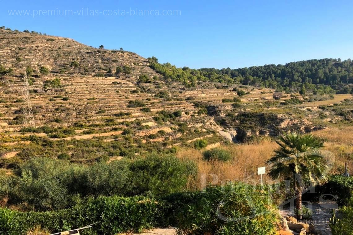 Plot land for sale in Calpe Costa Blanca - 0205G - Practically flat plot with fabulous views of the mountains and partial sea views in Empedrola. 2