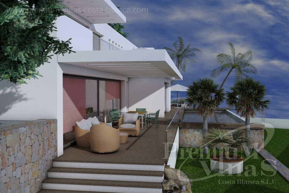 Buy villas houses sea view Moraira Costa Blanca - C1528 - Beautiful project of modern style house, with sea view 3