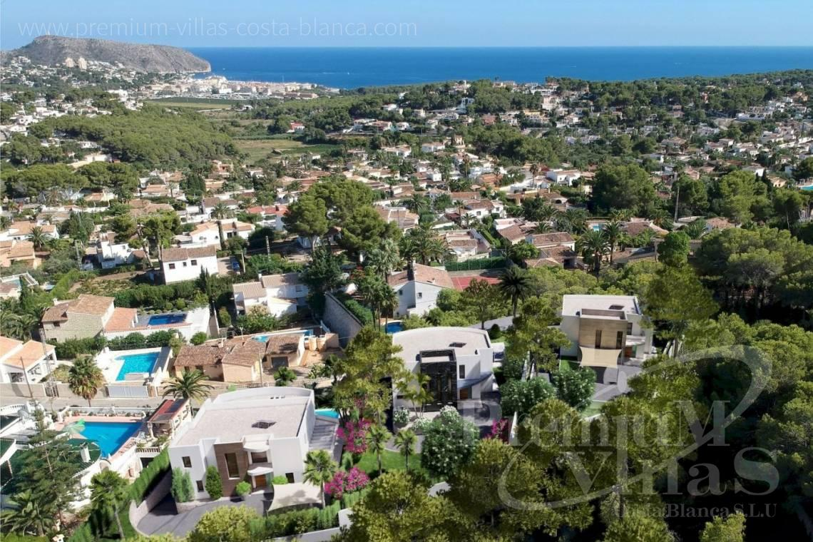 modern villas houses for sale Costa Blanca Spain - C2378 - New construction: Modern villa with sea views in Moraira 11
