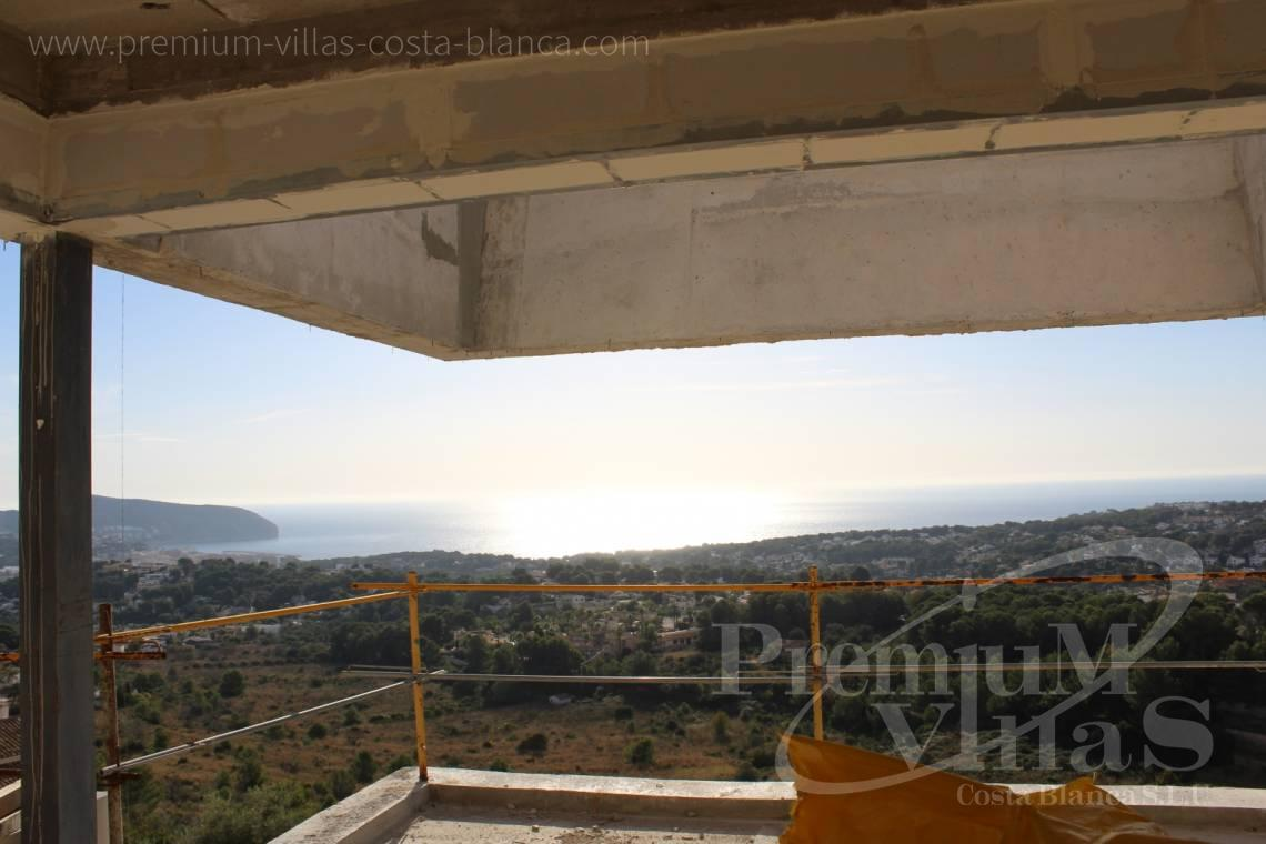 Buy a modern villa with sea views in Moraira Spain - C2020 - Modern Villa under construction with breathtaking sea views 5