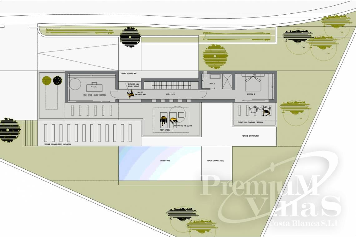 - C1528 - Beautiful project of modern style house, with sea view 9
