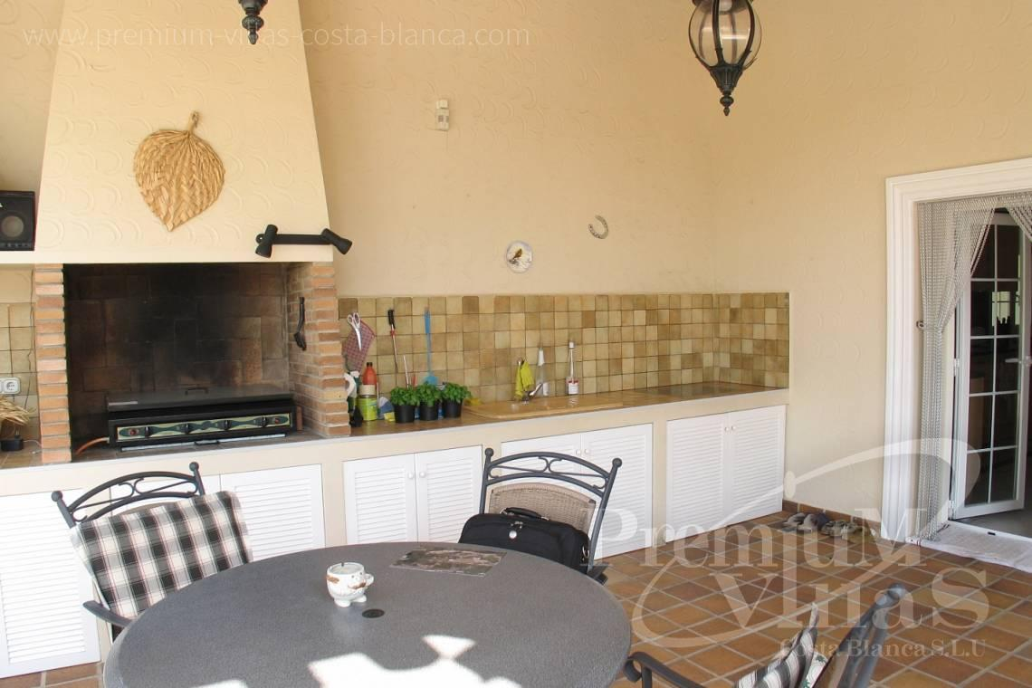 buy house villa with outdoor kitchen in La Nucia Costa Blanca - C1075 - Villa set on a flat plot of 4500sqm close to supermarkets 16