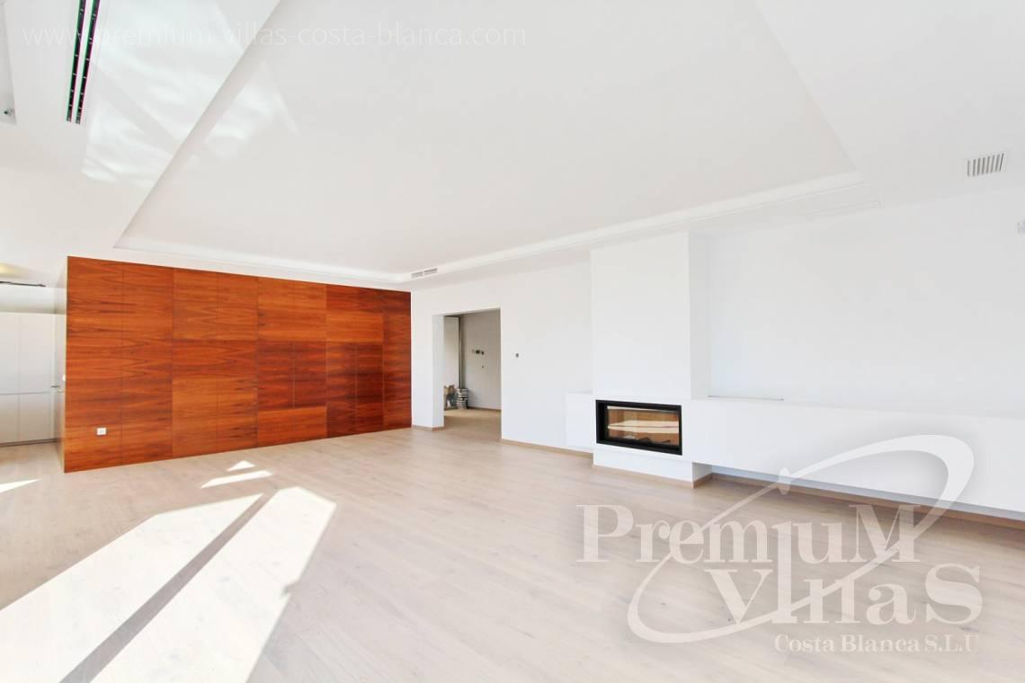 Living-room with fireplace from the modern villa in Altea Costablanca - C2066 - Modern and luxurious villa in Altea 7