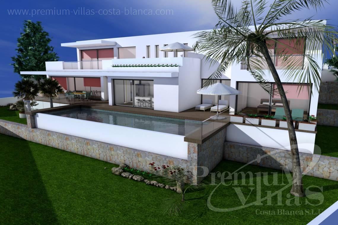 Buy modern 3 bedrooms villa in Moraira Costa Blanca - C1528 - Beautiful project of modern style house, with sea view 2