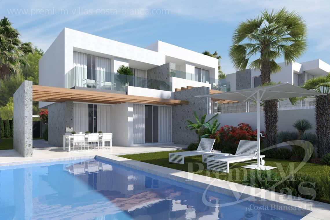 Bungalow for sale in Sierra Cortina Finestrat - C2349 - New construction semi detached houses in Finestrat 1