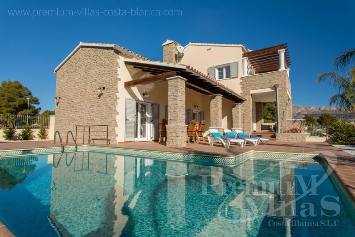 house villa for sale Altea Costa Blanca Spain - CC2205 - Rustic style villa in Altea, recently built, with beautiful views 2