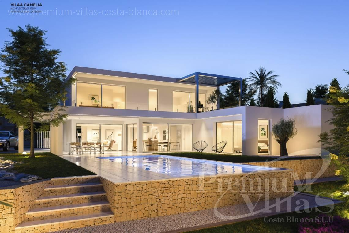 Under construction modern luxury villa in benissa just 1500m from the sea