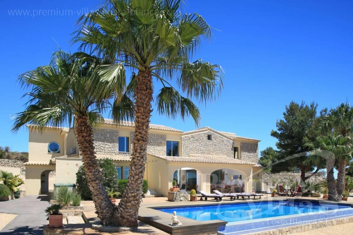 buy house villa Moraira Costa Blanca - C2199 - Moraira: Beautiful villa surrounded by vineyards with beautiful sea views. 1