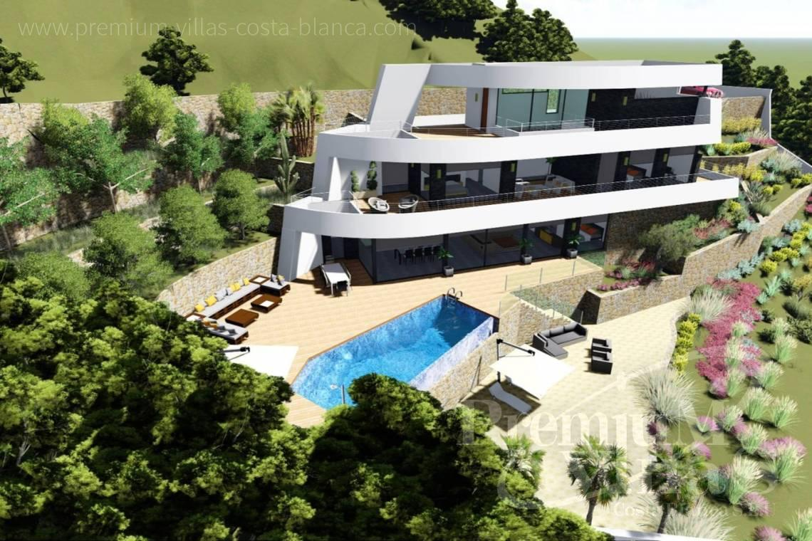 Modern 4 bedroom villa for sale in Racó de Galeno Benissa - C2122 - New project in Benissa with panoramic views over the whole Calpe. 20