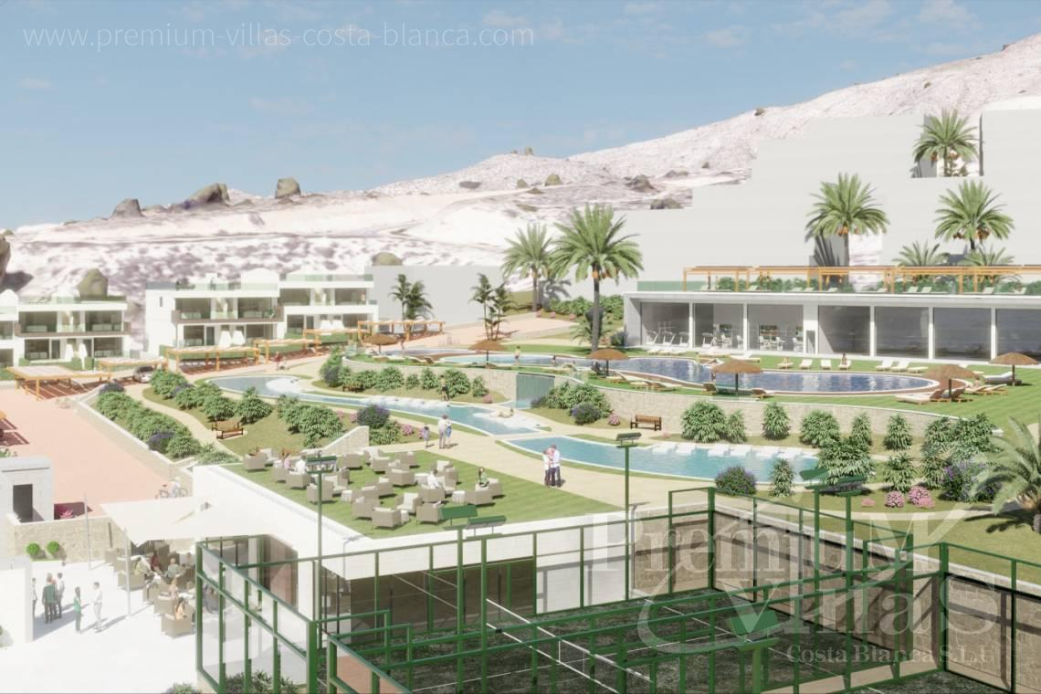 Buy villas houses bungalows Finestrat Costa Blanca - C2228 - Terraced houses in Finestrat near Benidorm with nice sea views 3