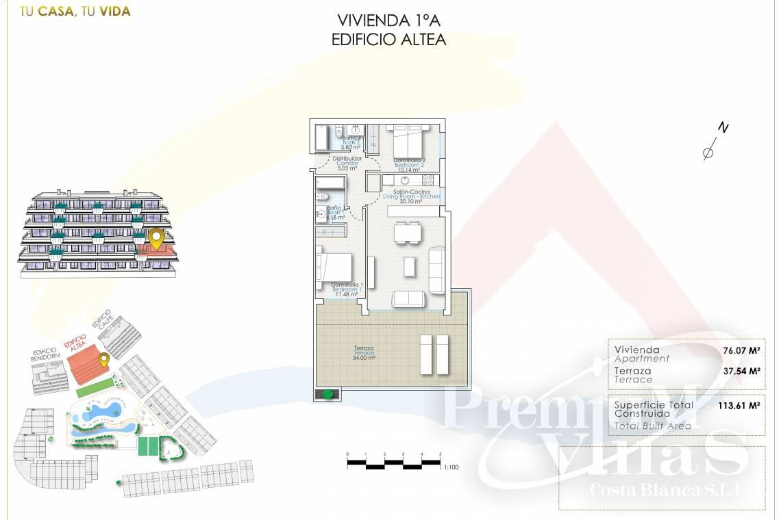 - A0622 - 2 bedrooms apartments with sea views in Finestrat 28