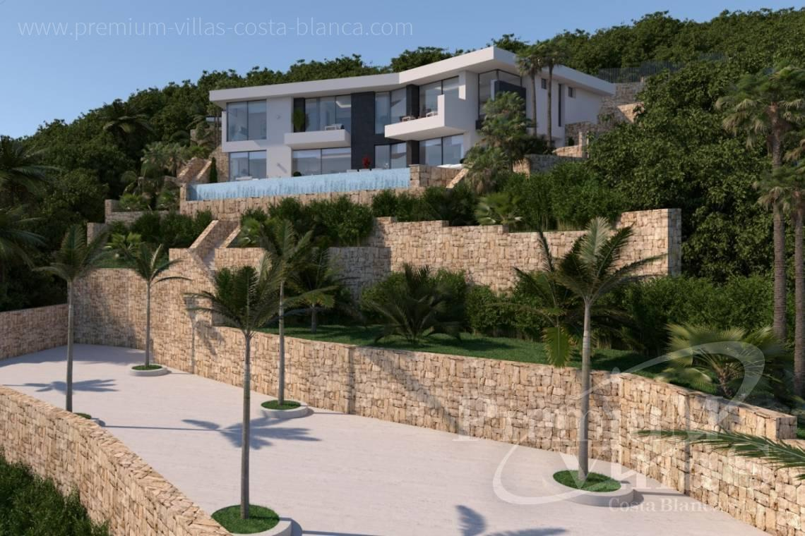 Modern 4 bedroom villa for sale in Benissa Costablanca - C2121 - New project in Benissa with beautiful views and first class qualities. 4