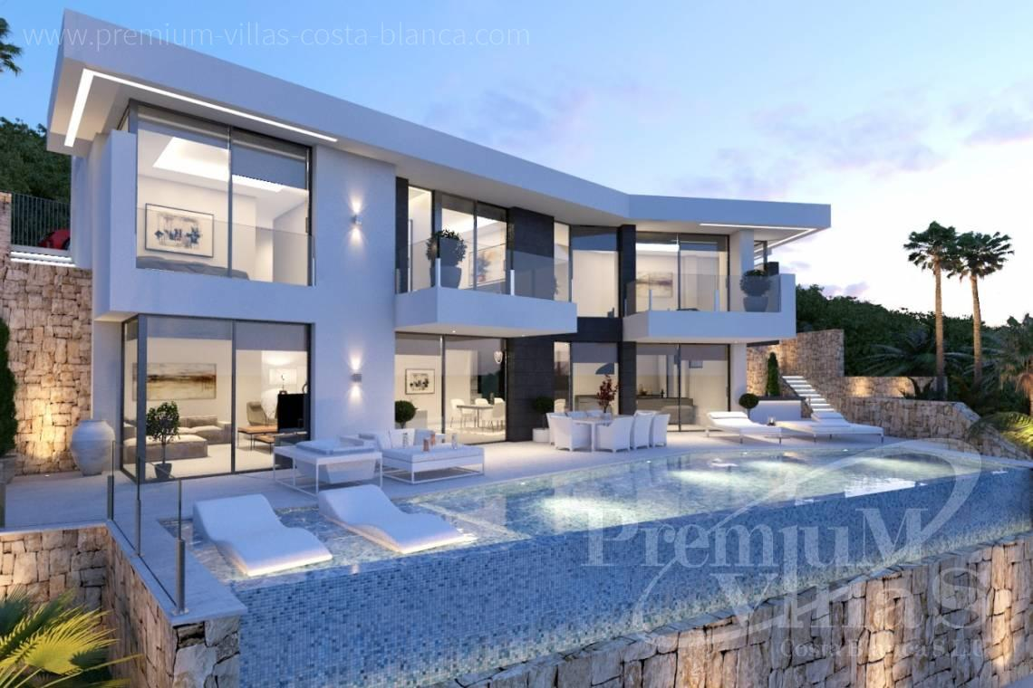 Modern villa with elevator on Benissa Costa Blanca - C2121 - New project in Benissa with beautiful views and first class qualities. 2