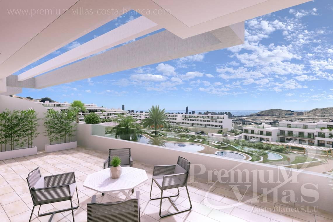 Apartments with sea views for sale near Benidorm Spain - A0622 - 2 bedrooms apartments with sea views in Finestrat 21