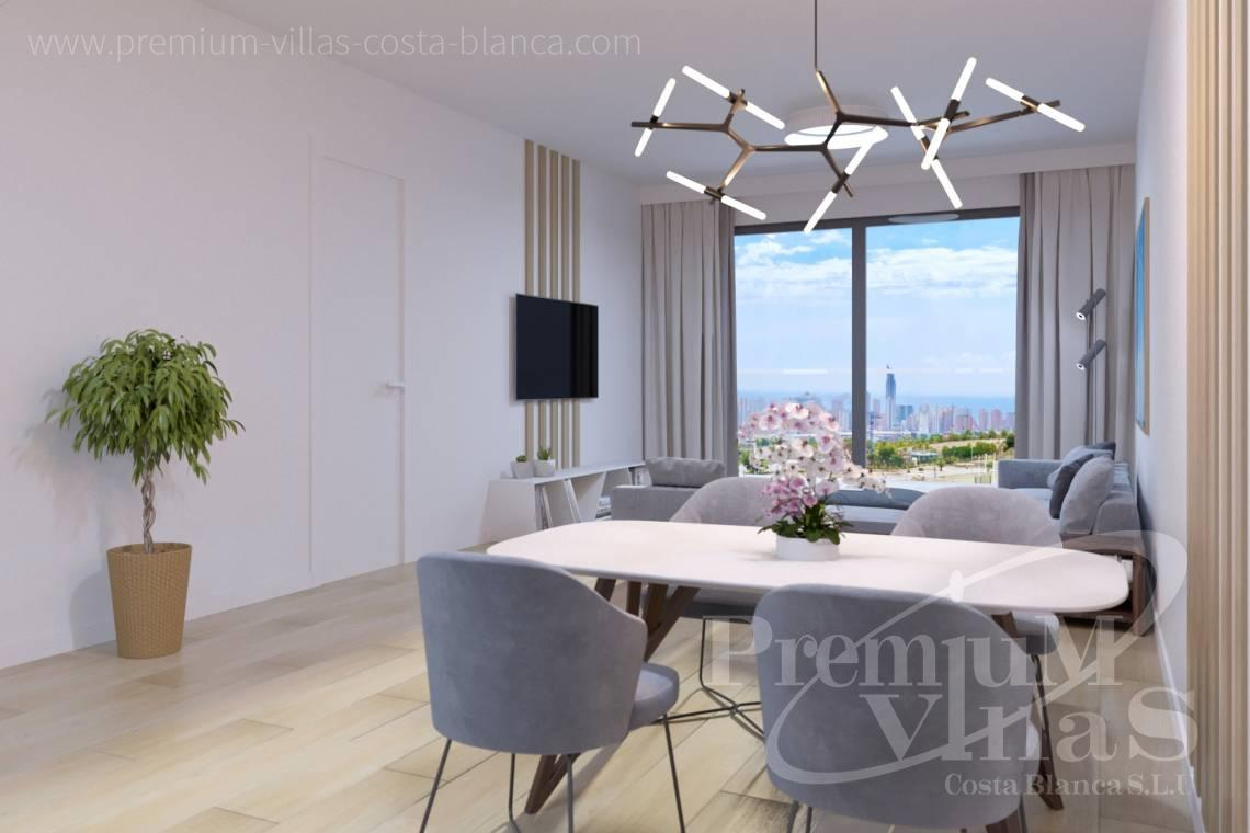 Living-room in the duplex with garden in Finestrat Spain - A0623 - Duplex with garden or solarium in luxury urbanization in Finestrat 12
