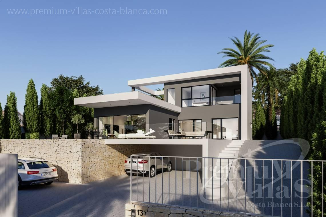 Buy modern villa in Calpe Costablanca - C2240 - Modern villa in urbanization Ortenbach in Calpe 4