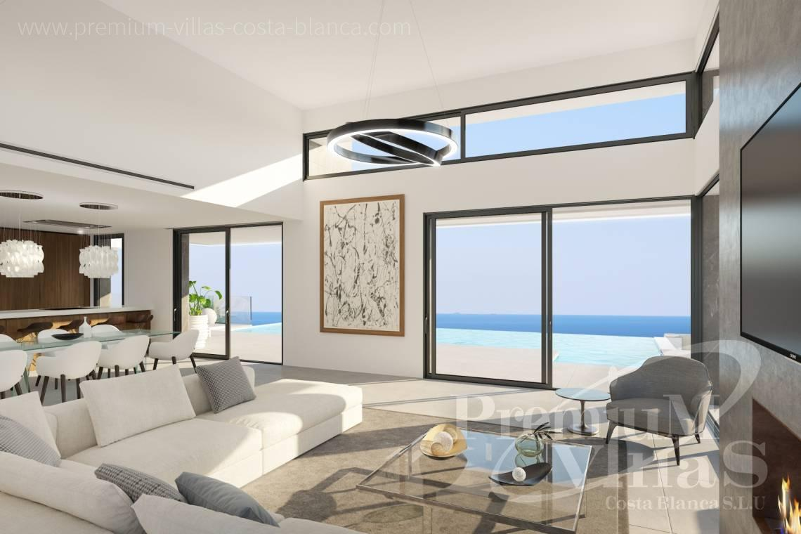 Buy modern villa with sea views in Altea Costa Blanca - C2238 - We build this villa soon at one of the best Altea plots 6