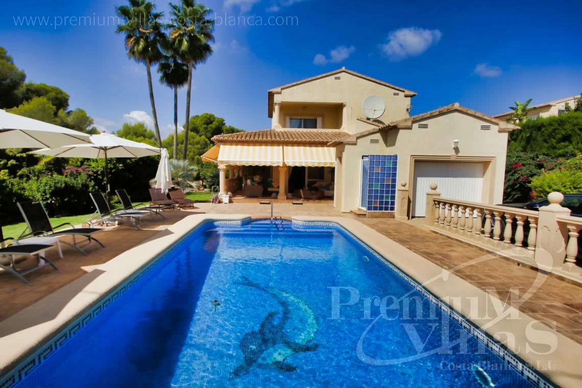 Mediterranean villa for sale in Calpe Costa Blanca - C2221 - Mediterranean villa in quiet urbanization of Calpe just 1.5 km from the sea 1