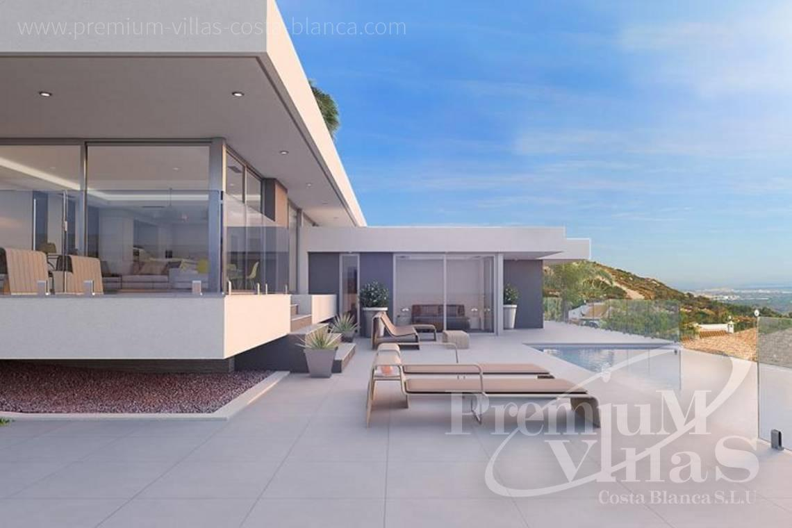 Buy modern 3 bedroom villa in Calpe Costa Blanca - C2103 - Modern house built on one floor with breathtaking sea views 5