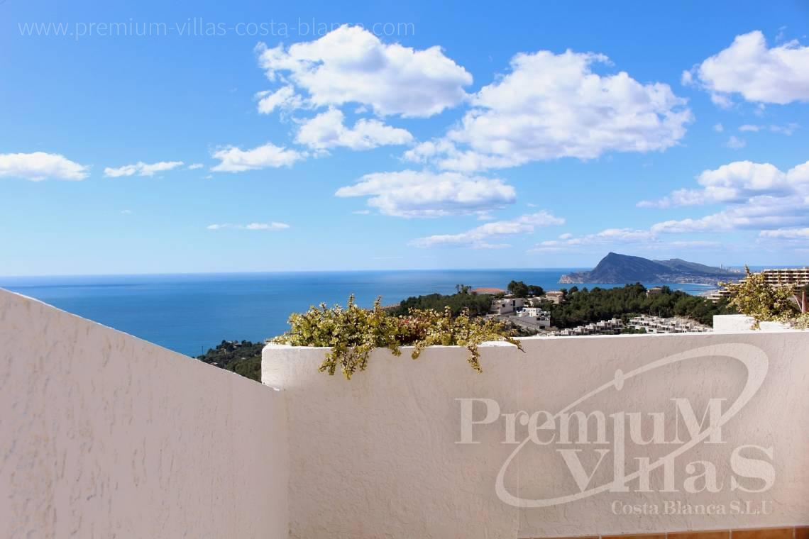 C1781 - Cozy corner townhouse with nice terraces, fantastic sea views in Altea Hills! 1