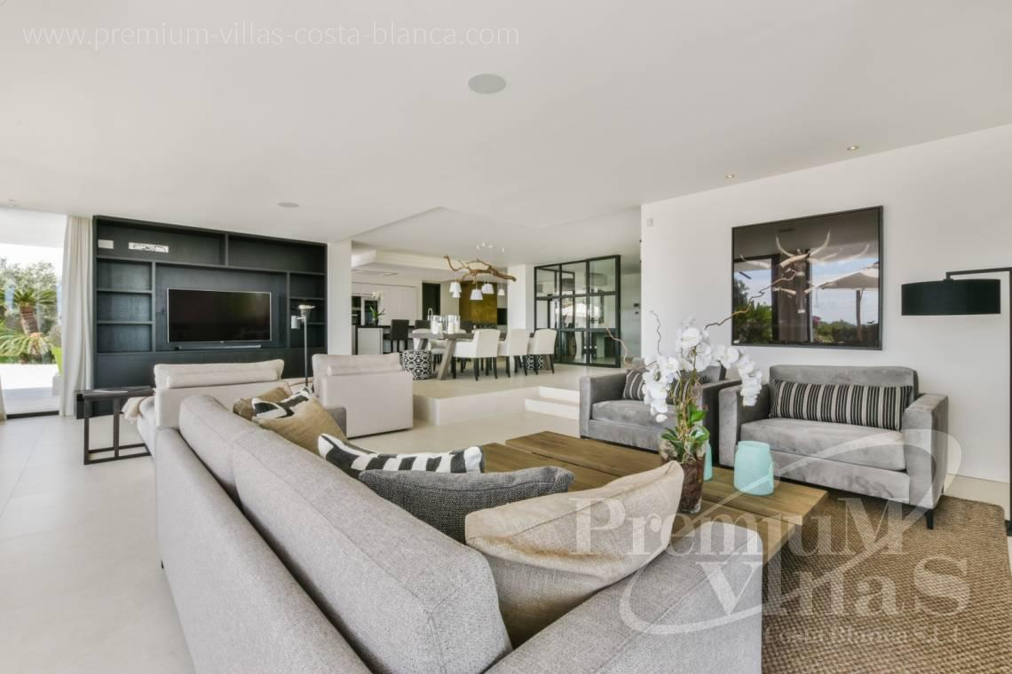 Living room of the luxury villa in Alfaz del Pí Costa Blanca - C2096 - Amazing Villa in Alfaz del Pi with a plot of 12,000 m2 6