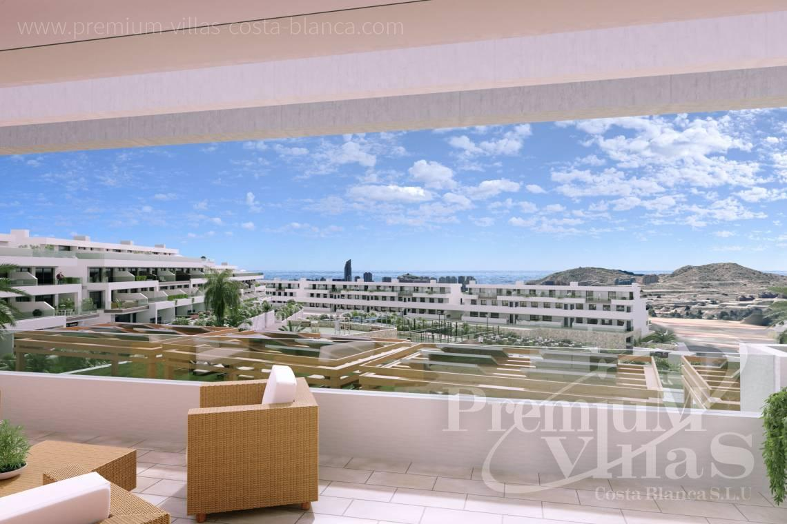 Buy apartment with sea views in Finestrat Spain - A0622 - 2 bedrooms apartments with sea views in Finestrat 1