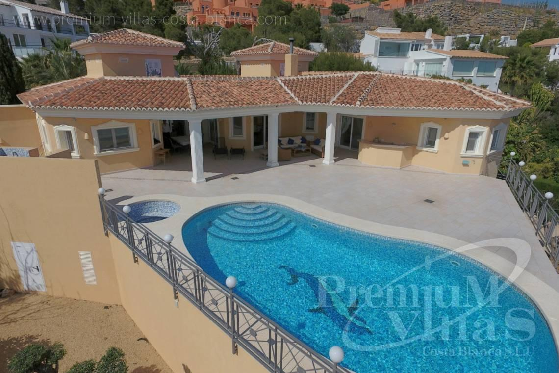 house villa for sale Altea Costa Blanca Spain - C2163 - Beautiful villa with guest studio and stunning views over the bay of Altea 1