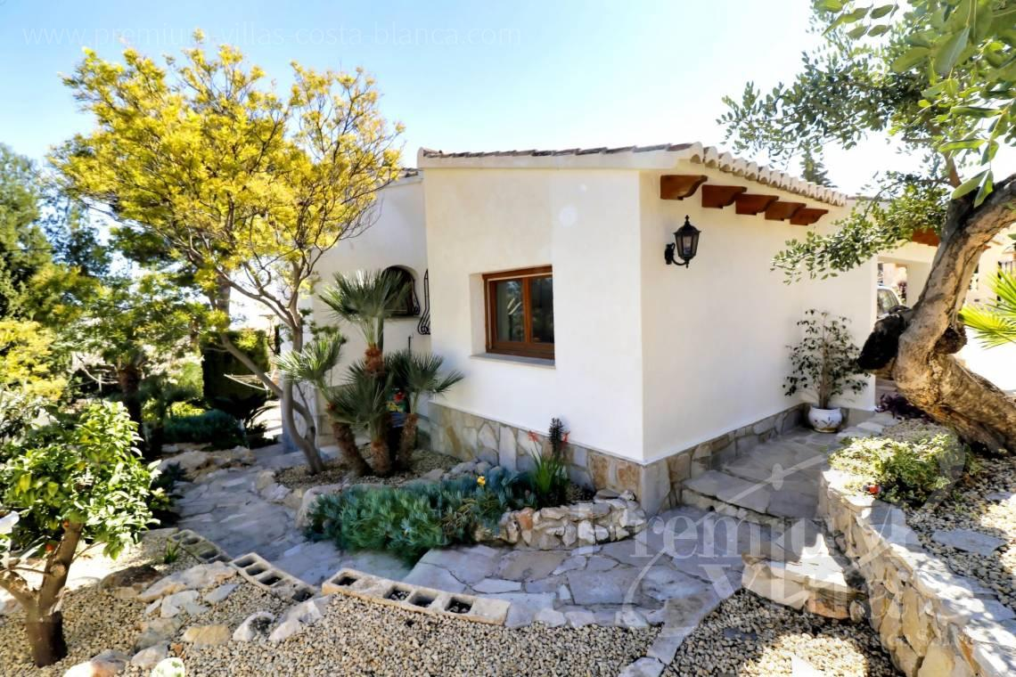 Mediterranean garden in the villa with sea views in Calpe Spain - C2265 - Sea view mediterranean villa 3 bedrooms in Calpe 5