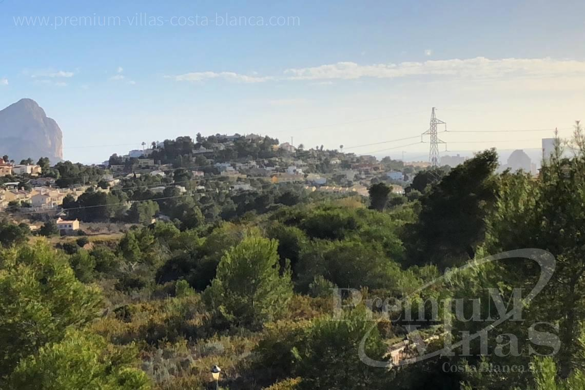 Plot land for sale in Calpe Costa Blanca - 0205G - Practically flat plot with fabulous views of the mountains and partial sea views in Empedrola. 3