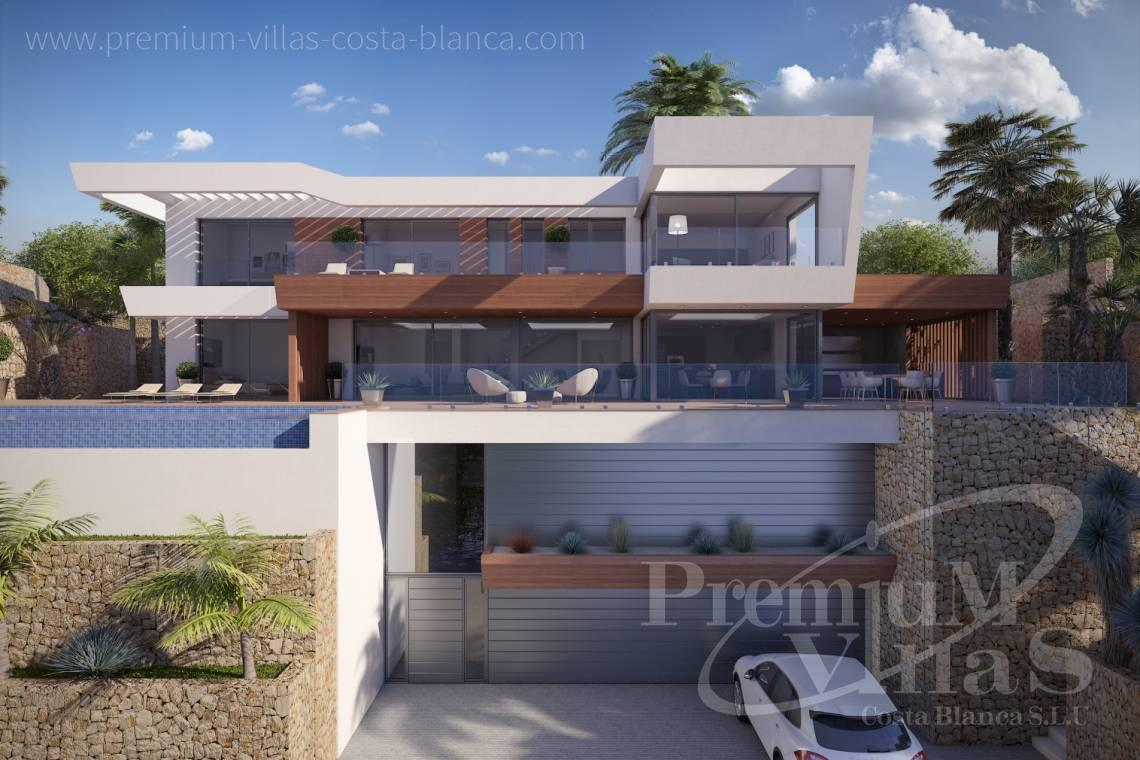 Modern villa with elevator for sale in Moraira Spain - C2020 - Modern Villa under construction with breathtaking sea views 1
