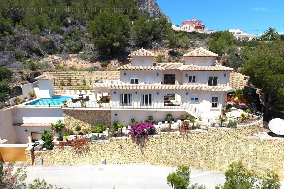 House villa for sale Calpe Costa Blanca - C1776 - Villa with amazing panoramic sea views in an elevated position. 1