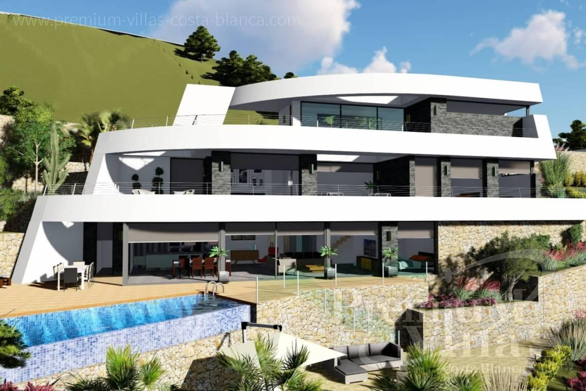 Buy villas houses sea view Benissa Costa Blanca - C2122 - New project in Benissa with panoramic views over the whole Calpe. 3