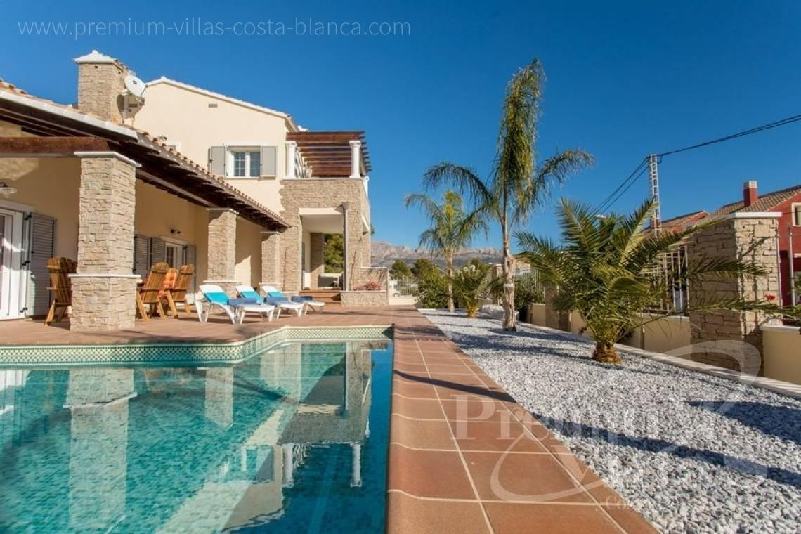 house villa for sale Altea Costa Blanca Spain - CC2205 - Rustic style villa in Altea, recently built, with beautiful views 3