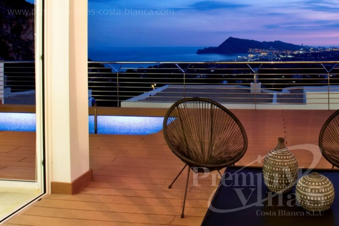 Modern villas houses with sea view Altea Costa Blanca - C2243 - Modern and furnished villa in Sierra de Altea 3