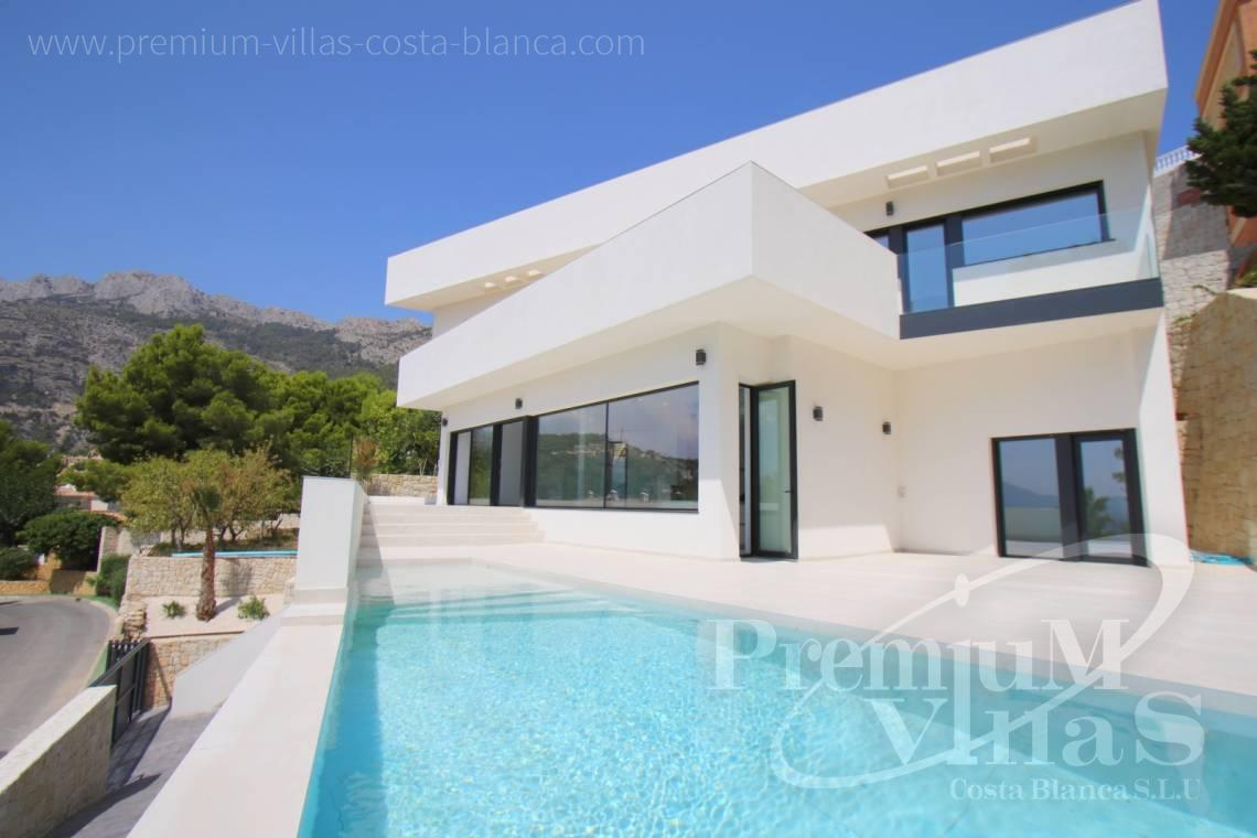Buy a modern villa with aerothermia in Altea Hills Spain - C2138 - New construction of a modern villa in Altea Hills with fantastic views 3