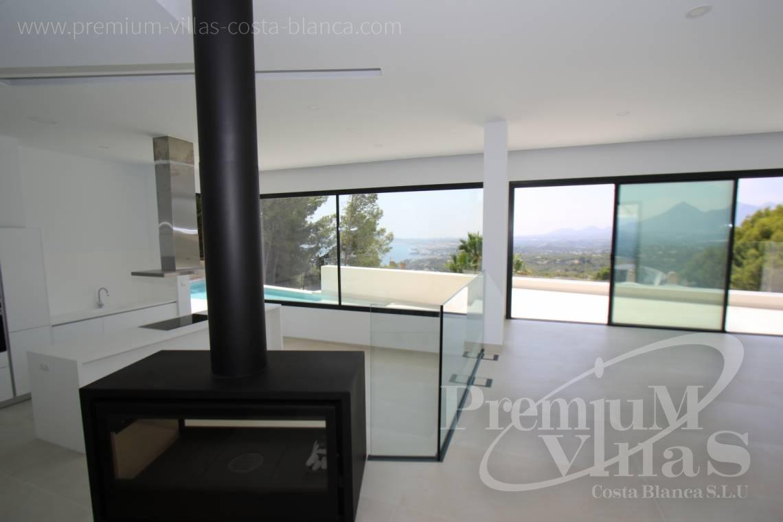 Modern villa with sea views for sale in Altea Spain - C2138 - New construction of a modern villa in Altea Hills with fantastic views 6
