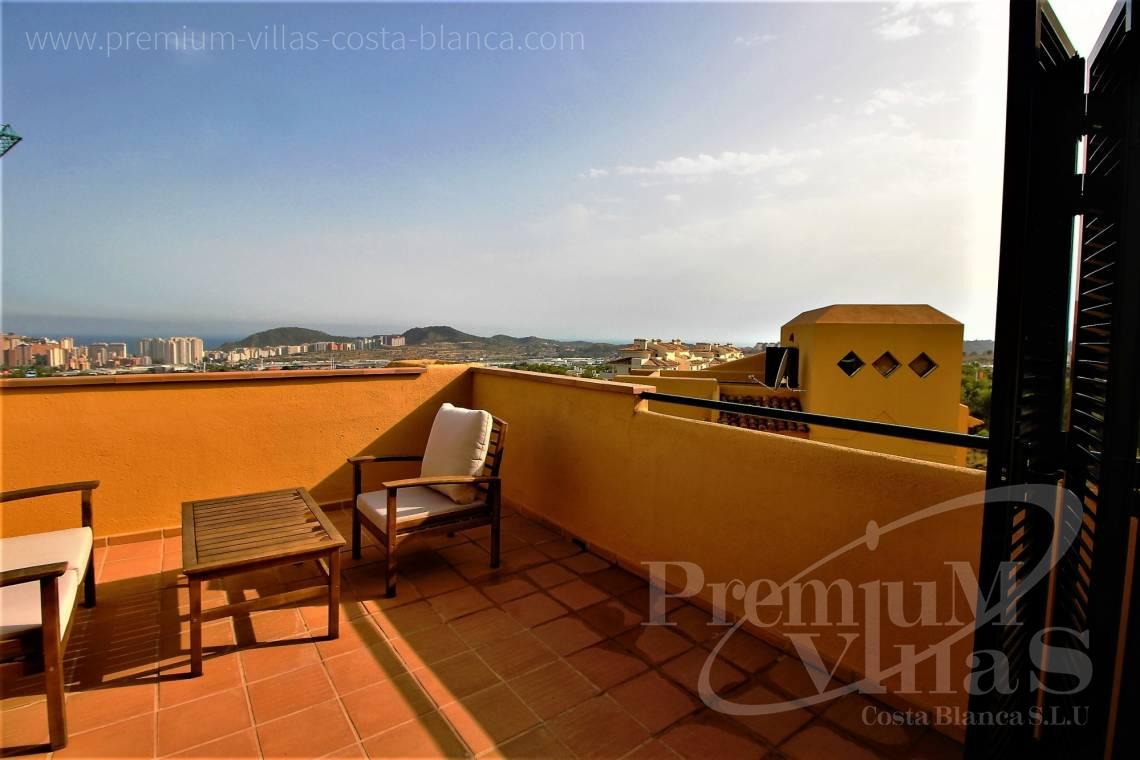 Buy bungalow with sea views in Benidorm Costa Blanca - CC2348 - Corner terraced house in Sierra Cortina, Finestrat 2