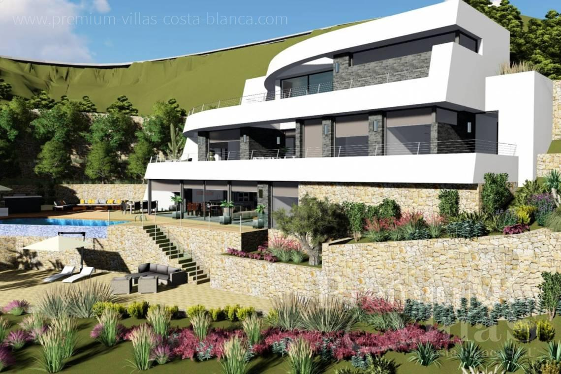 Buy modern villa in Benissa Costa Blanca - C2122 - New project in Benissa with panoramic views over the whole Calpe. 18