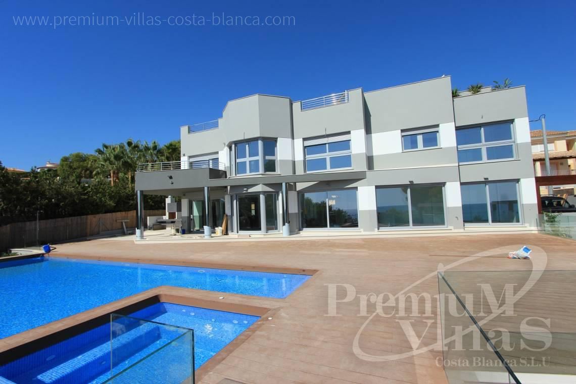 modern villas for sale in Calpe Costa Blanca Spain - C1645 - 1st sea line: Modern luxury villa with access to the beach in Calpe 2