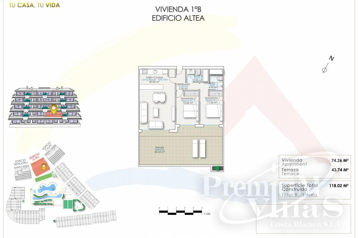 - A0622 - 2 bedrooms apartments with sea views in Finestrat 29